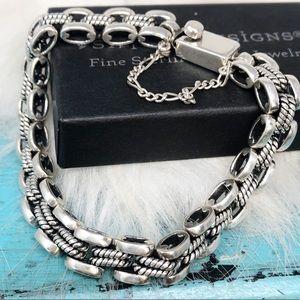 Silpada RARE 925 0val Rope Link Box Clasp Bracelet